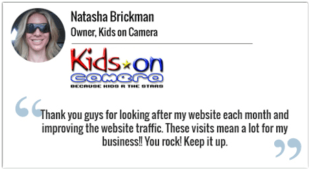 website design testimonial