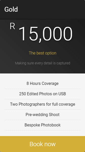gold-wedding-package