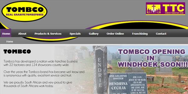 Leading Tombstone Supplier in South Africa – Tombco