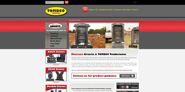 Leading Tombstone Supplier – Tombco Gauteng